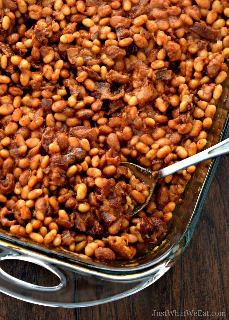 Easy BBQ Baked Beans with Bacon - Gluten Free, Dairy Free