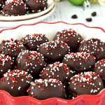 "These gluten free and dairy free ""Oreo"" Truffles are SO decadent and taste incredible! They taste just like traditional Oreo truffles and are perfect for your next Holiday party! #glutenfree #dairyfree #desserts #recipes #holidays #christmas #oreo"