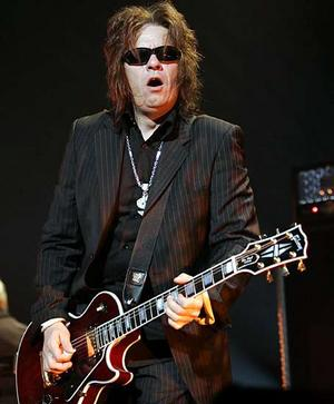 A rather unflattering shot of Andy Taylor
