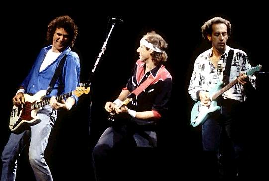 Though they were excellent guitarists those Dire Straits boys never really mastered the Hank Marvin/ Shadows dance steps