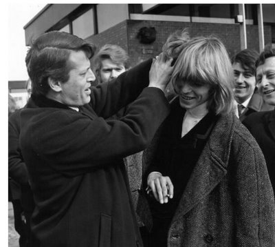 David's hair always afforded him special treatment when the nit inspector (in this case 'Nitty Norman') visited his school!