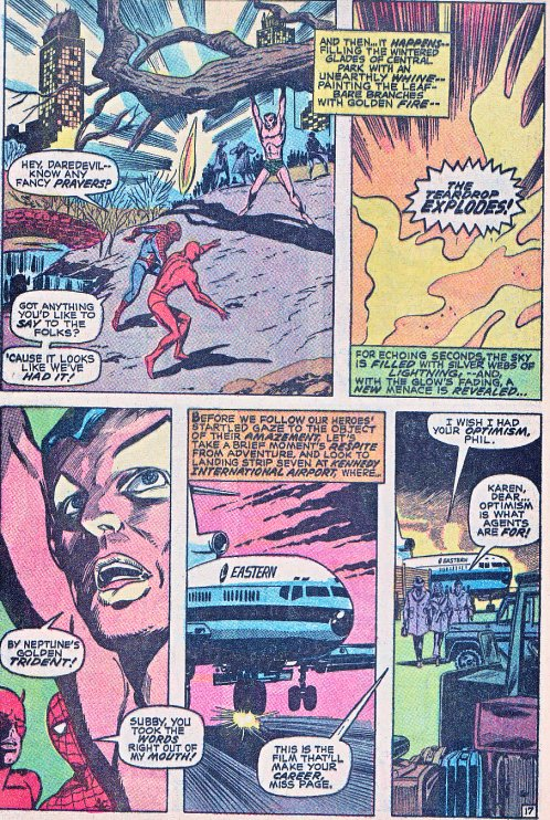 The page of the comic from which the Teardrop Explodes got their name
