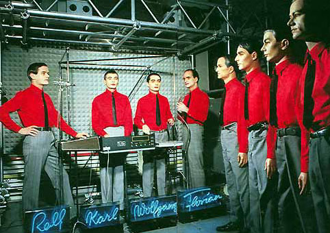 Kraftwerk often used dummies on stage whereas Robbie Williams.......... well you can probably guess the answer to that one!
