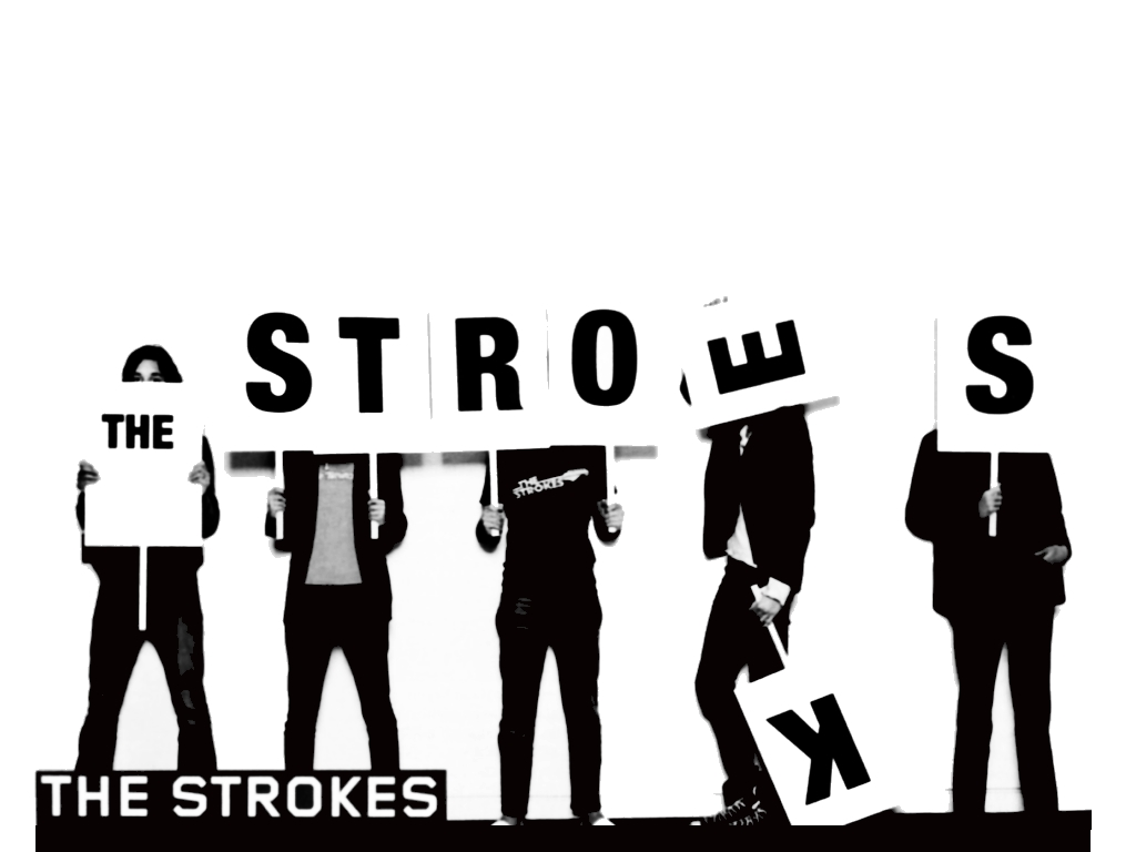 Once again the Strokes fail to win at Giant Scrabble, spelling c;early wasn't their strong point!