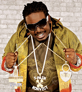 T-Pain nearly strangled himself trying to complete the Bling version of Cat's Cradle