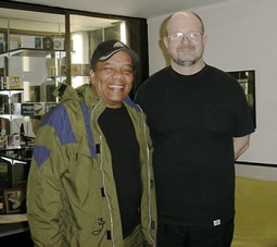 Johnny Nash with Andy Bradley at the Sugarhill Studios in Houston, Texas in April 2006