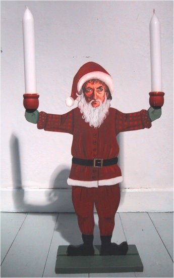 Bob really got into the Christmas spirit by designing and using enormous candle shaped drumsticks.