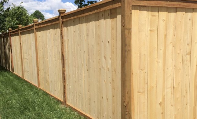 just wooden fences just