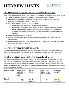 Hebrew hints page1