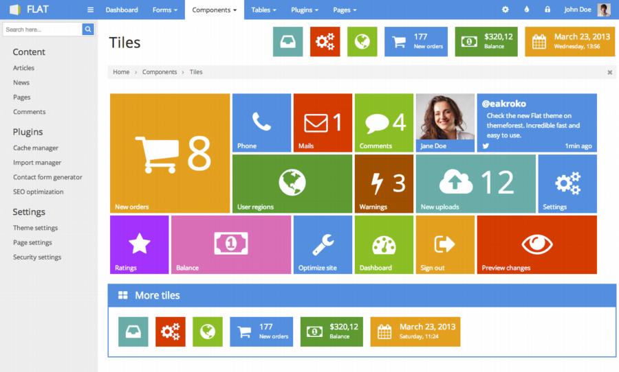 12 Premium Multifunctional Responsive Admin Templates JustWP
