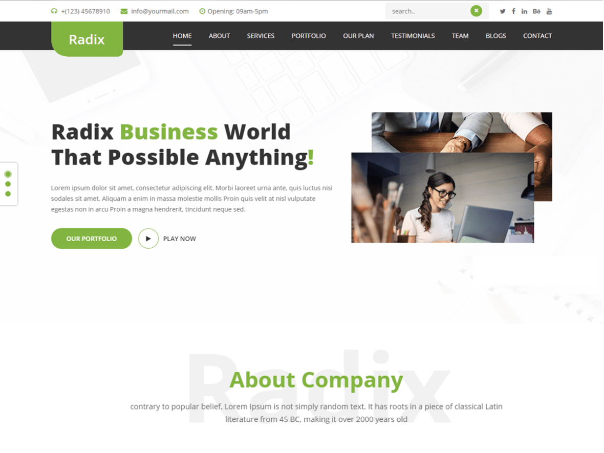 30 best free business wordpress theme 2018 just wp themes best free business wordpress themes wajeb Gallery