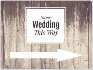 Wedding Yard Signs - 18x24