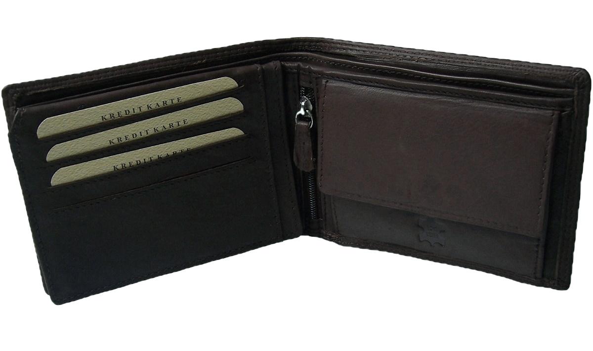 Portemonnaie echt Leder Herren Geldbrse Brieftasche