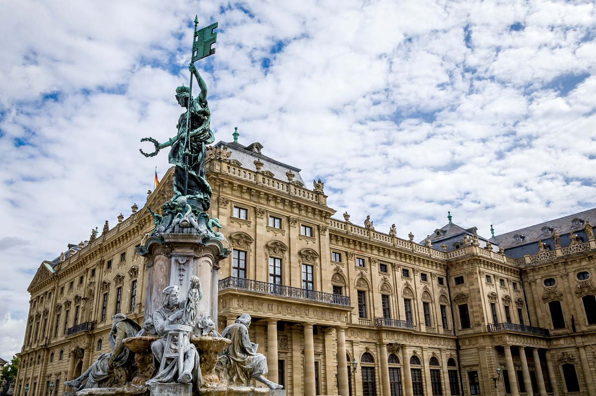 Lance and Laura LongwellGermany-Wurzburg-Residenz-statue