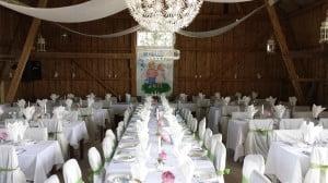 Klassisk bröllopsdukning
