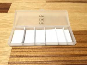 ダイソーペンケースに厚紙で仕切りを作る