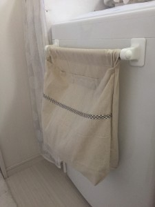 おしゃれ着洗い用洗濯物を入れた状態