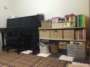 和室 アップライトピアノ