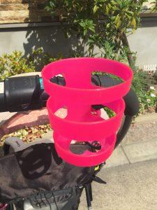 ベビーカー用ペットボトルホルダー ピンク タイガー