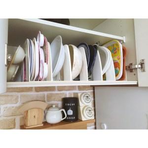 大きなお皿 プレート ブックスタンドで立てて収納 整理整頓 100均 ダイソー セリア ブックスタンドアイデア