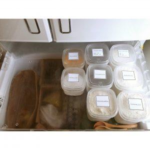 粉物保管方法 野菜室 粉もの保管 冷蔵保存 保管容器 100均 手作りラベル