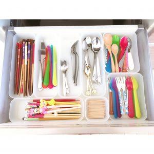 カトラリー 収納 整理整頓 100均ケース 透明 ダイソー 食器 お箸 スプーン フォーク