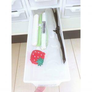 使っていないおはしケース お箸ケース ダイソーの引き出しケース 白 整理 保管方法 収納 キッチン 100均ケース おすすめ