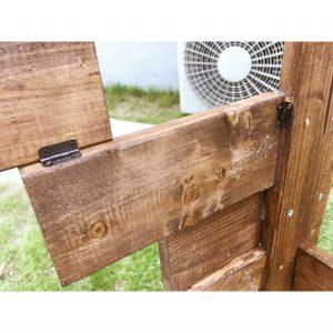 1×4材だけで簡単手作り 室外機カバー 日立室外機 DIY diy 主婦が手作り 簡単