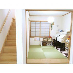 和室 階段 おもちゃ 収納 アップライトピアノ 階段 diy おもちゃ棚をdiy