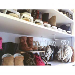 パンプス ブーツ シューズクローク シューズ 靴 靴の収納 靴の整理整頓 かける収納 カインズホーム カインズ CAINZ ホワイト 白 シューズハンガー 収納 整理整頓 くつの収納