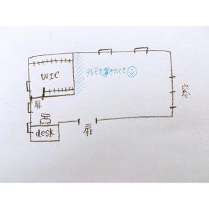 寝室の間取り 寝室 失敗 WIC ウォークインクローゼット 扉位置 扉の位置で変わる収納力
