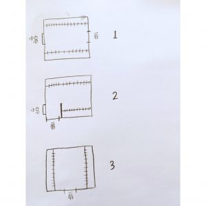 WIC ウォークインクローゼット 扉の位置で収納力が変わる 手書きの間取り 収納 整理整頓