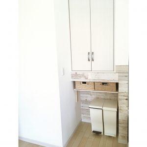 無印 無印良品 ブリ材角型バスケット 無印かご キッチン収納 キッチン ゴム箱 手作り棚 DIY 簡単に棚を手作り 収納 整理整頓