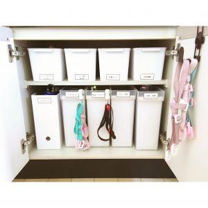 家族の使いやすい収納 水筒の収納 水筒収納 整理整頓 使いやすい水筒収納 水筒の紐は掛ける収納で使いやすい ブログ 収納 整理整頓
