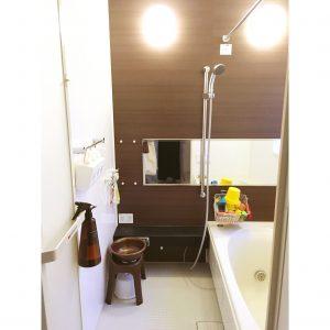 お風呂 失敗したこと 失敗点 一軒家 ブログ お風呂のカウンター 黒 収納 整理整頓