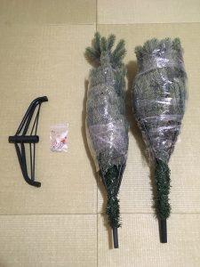 くるくる梱包ラップ 100均 キャンドゥ クリスマスツリーの収納 くるくる梱包ラップを使ったクリスマスツリーの収納 クリスマスツリーお片付け 収納 整理整頓 ブログ