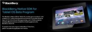blackberry native sdk for tablet OS beta program