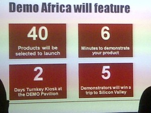 40 products, 6 pitch minutes, 2 days kiosk, 5 winners to SIlicon Valley Demo
