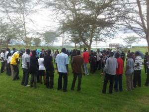 Participants at wordcamp kenya 2011 in Naivasha