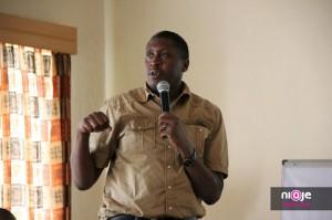 Paul Kukubo of the Kenya ICT Board at WordCamp Kenya 2012 Maanzoni.