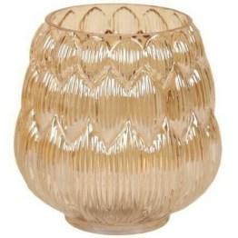 gold hurricane vase