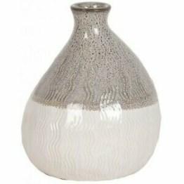 Grey White Bulb Vase