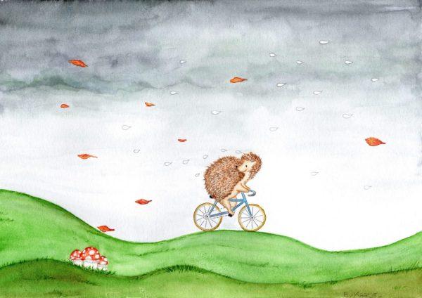 Egel-op-fiets