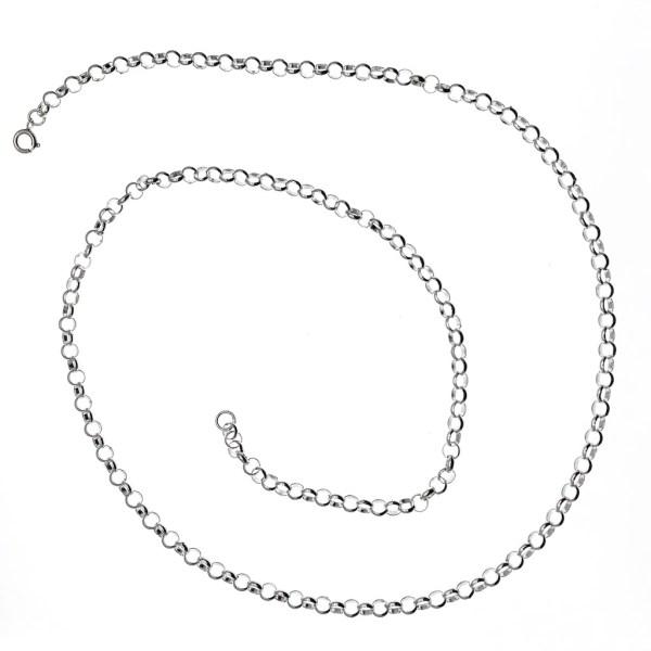 zilveren jasseron ketting