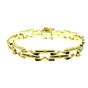 gouden fantasie schakel armband