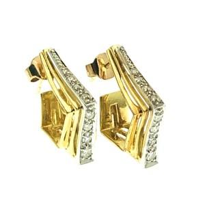 18 karaat oorbellen met diamant