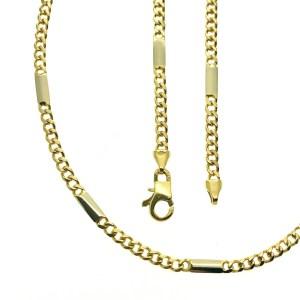 Gouden gesloten figaro schakel