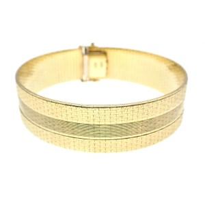Vintage gouden brede gladde armband