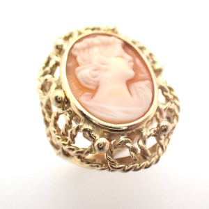 vintage gouden ring camee
