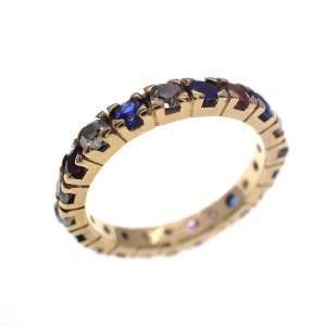 gouden alliance ring saffier diamant robijn